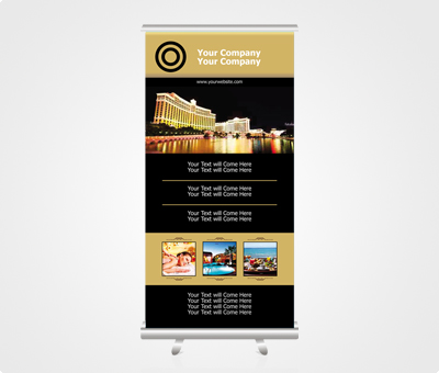 Online Exhibition Standies printing Hotels
