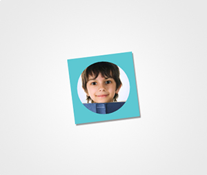 Stickers printing Image on Blue Background