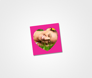 Stickers printing Image On Pink Background