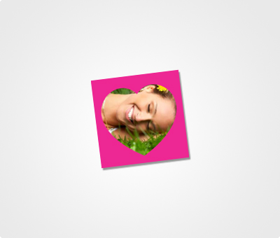 Online Stickers printing Image On Pink Background