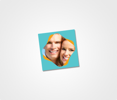 Online Stickers printing Image On Blue Background