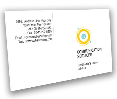 Online Business Card printing Communication Solution