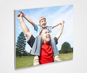 Framed 6x6 Mini Canvas printing Father And Son
