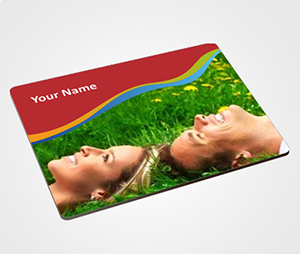 Mouse Pads printing Happy Couple on Grass