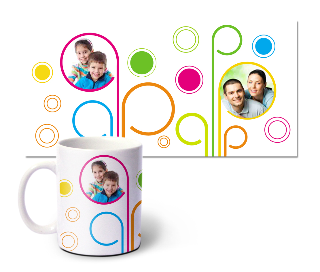 Online Mugs printing Happy Family