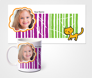Mugs printing Wild Cat And Kids