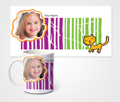 Online Mugs printing Wild Cat And Kids