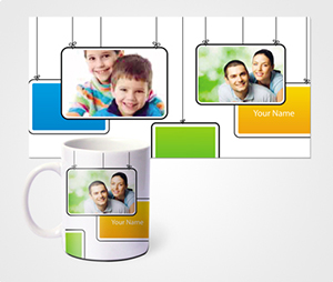 Mugs printing Family Photo Signage