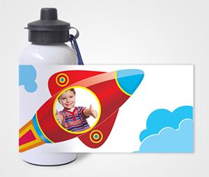 Water Bottles printing Rocket And Kid