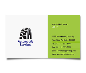 Business Card printing Wheel Alignment
