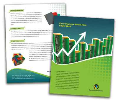 Brochure printing Business Finance Solution