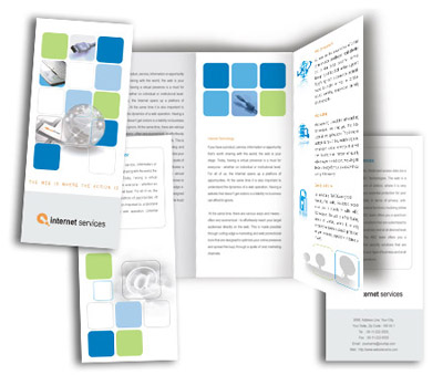 Online Brochures Two Fold printing Internet Service