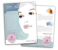 Online Brochure printing Fashion Store