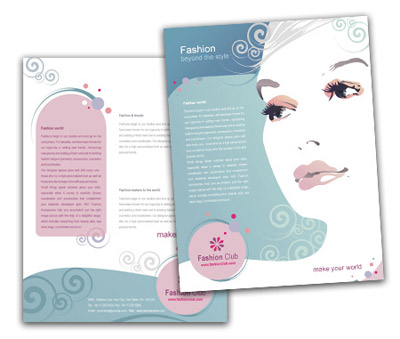 Online Single Page Brochures printing Fashion Store