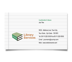 Business Card printing Educational Library Services