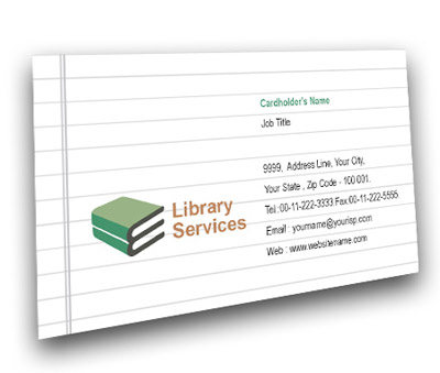 Online Business Card printing Educational Library Services