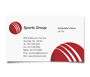 Business Card printing Cricket Academy Centre