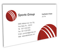 Online Business Card printing Cricket Academy Centre