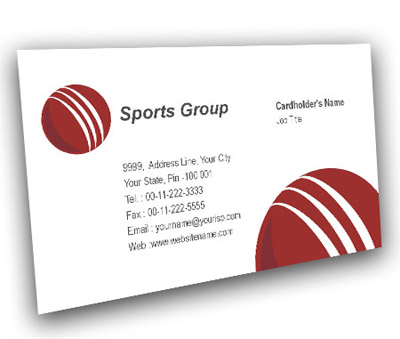 Business Card Design for Cricket Academy Centre Offset or