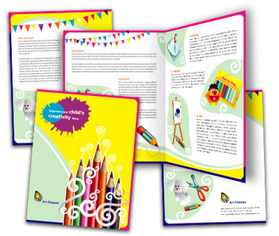 Online Brochures One Fold printing School of Arts
