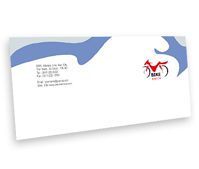 Online Envelope printing Bike Shop
