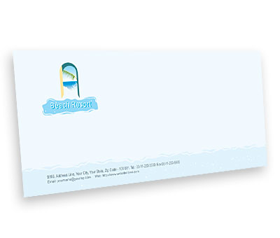 Online Envelope printing Beach Resort