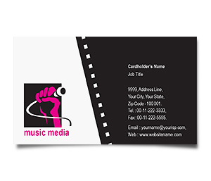 Business Card printing Sound and Film Media