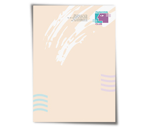 Letterhead printing Fashion Club