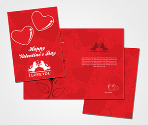 Greeting Card printing Cute Valentines Day