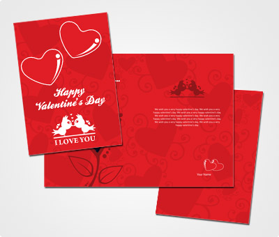 Online Greeting Card printing Cute Valentines Day