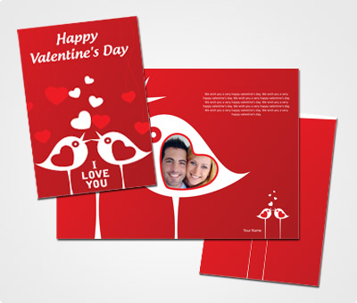 Online Greeting Card printing Valentines Day