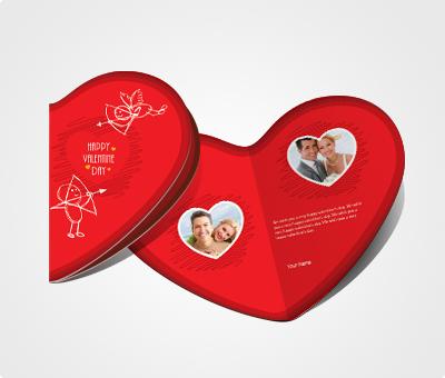 Online Greeting Card printing Print Valentines Card