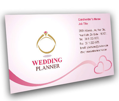 Business Card Design For Wedding Event Offset Or Digital