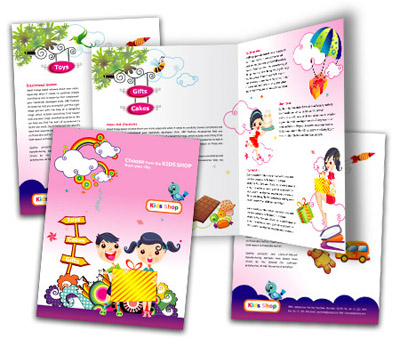 Online Brochures One Fold printing Kids Store