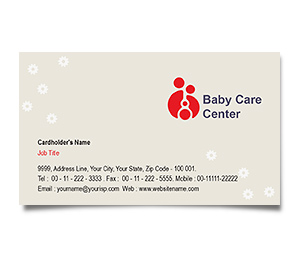 Business Card printing Baby Care Center