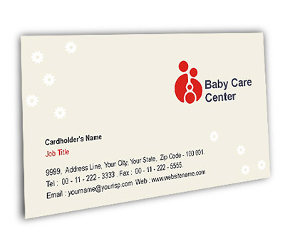 Online Business Card printing Baby Care Center