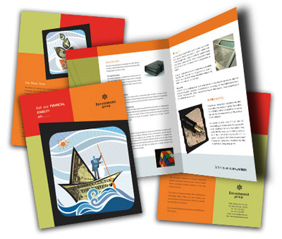 Online Brochures One Fold printing Investment Company