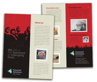 Brochure printing Financial Service