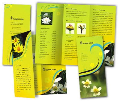 Online Brochures Two Fold printing Florists
