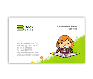 Business Card printing Book Shop