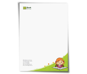 Letterhead printing Book Shop