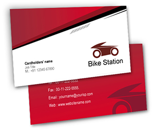 Business Card printing Bike Station