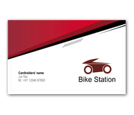 Business card design for bike shop offset or digital printing online business card printing bike station reheart Images