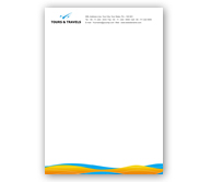 Online Letterhead printing Tours and Travel