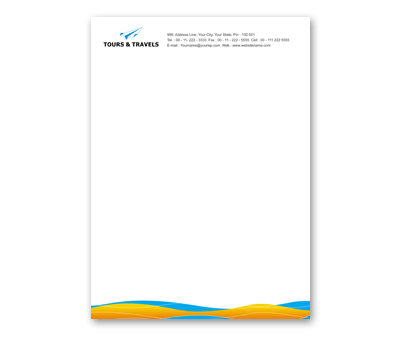 Letterhead design for tours and travel offset or digital printing online letterhead printing tours and travel spiritdancerdesigns Choice Image