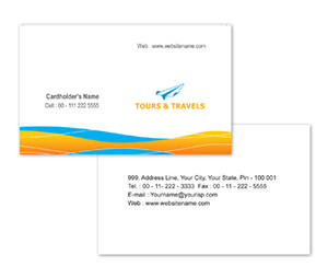 Business Card printing Tours and Travel