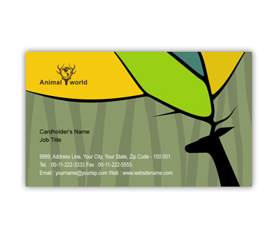 Online Business Card printing Animal & Pet Shop