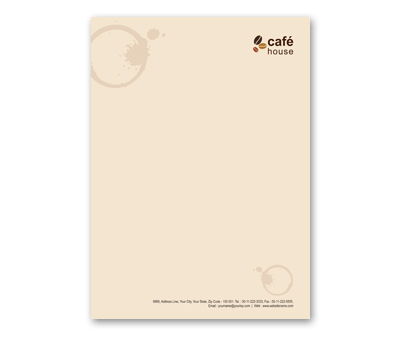 Online Letterhead printing Coffee Shop