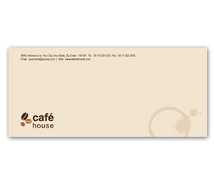 Envelope printing Coffee Shop