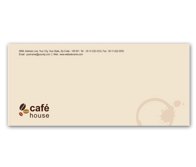 Online Envelope printing Coffee Shop